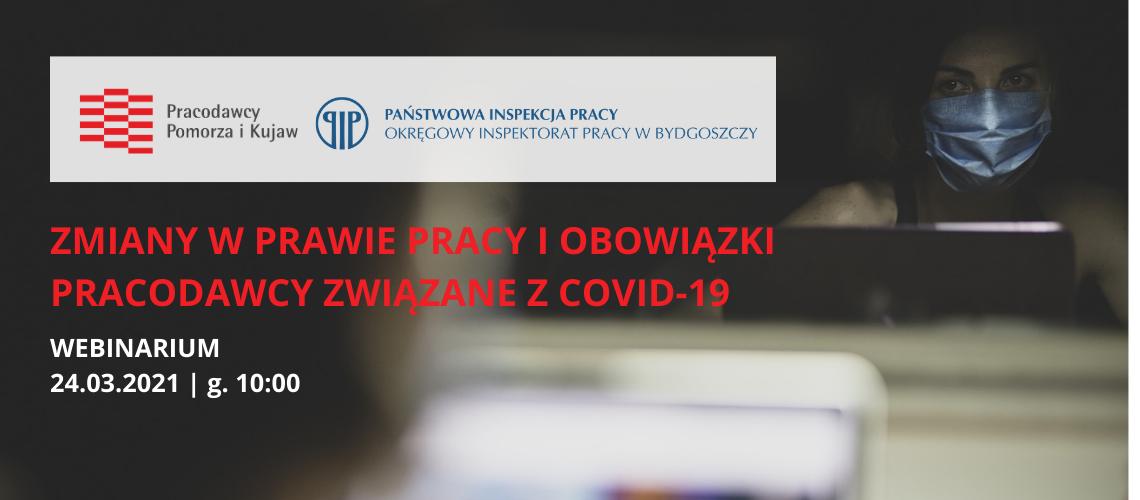 """Webinarium """"Zmiany w prawie pracy i obowiązki pracodawcy związane z COVID-19"""""""