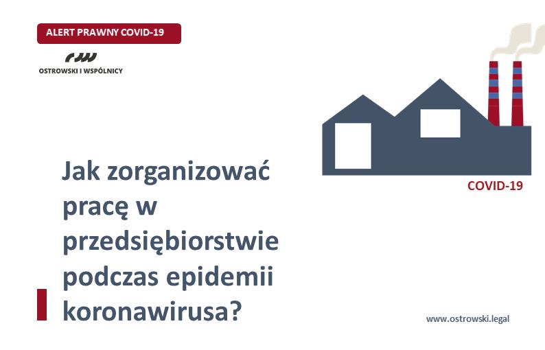 ALERT PRAWNY COVID-19 | Jak zorganizować pracę w dobie koronawirusa?